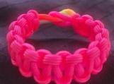 Paracord bracelet neon colors