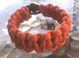 Paracord bracelet orange/black