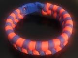 Paracord bracelet blue/orange