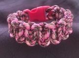 Paracord bracelet pink/black