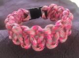 Paracord bracelet pink/black camo