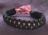 Paracord bracelet light Pink camo