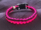 Paracord bracelet pink and black
