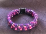 Paracord bracelet purple and camo