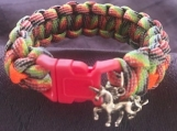 Paracord bracelet  rainbow with unicorn