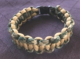 Paracord bracelets with camel/green camo