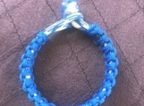 Paracord slim blue bracelet