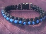 Paracord thin blue line bracelet
