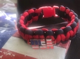 Paracord USA Bracelet with charm