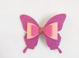 Pink Butterfly Hairclips