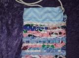 Small Blue And Pink Rag Rug Bag