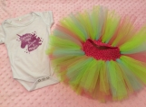 Sparkle, shine and believe in magic Onesie/tutu set 3-6 months