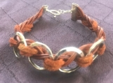 Women's leather/suede bracelet