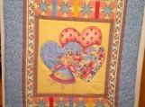 3 Hearts and a Doll Baby Quilt