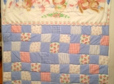 8 little Bunnies under a quilt Baby quilt