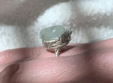 Aquamarine Silver Wrapped Nested Ring