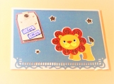 Baby Boy Lion Greeting Card