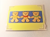 Baby Boy Teddy Bears Greeting Card