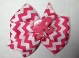 Barbie Pink and White Hair Bow