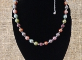 Beautiful Multi-colored Pastel Glass Bead Necklace