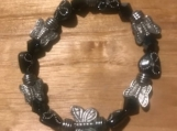 Black Butterfly stretch bracelet