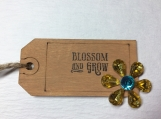 Blossom and Grow Wooden Gift Tag