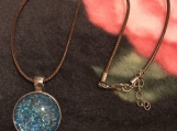 Blue Glitter necklace