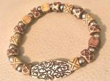 Bracelet - beaded wood