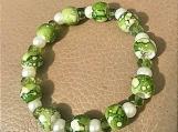 Bracelet - green beaded