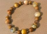 Bracelet - stone and glass