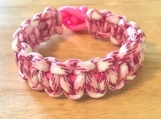 Breast Cancer Awareness bracelet - hot camo