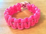 Breast Cancer Awareness bracelet - hot pink
