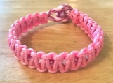 Breast Cancer Awareness bracelet - thin pink