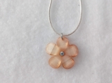 Clear Orange Flower Necklace