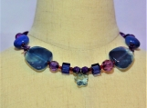 Dark Purple and Blue Stars Children Necklace