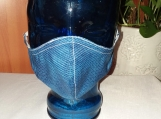 Face Mask-1 adult Blue striped, reusable, double layered