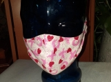 Face Mask-1 adult Hearts X & O's, Reusable, Double layered