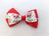 Girl Red Butterfly Hair Bow