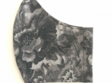 Gray Floral Print Mask