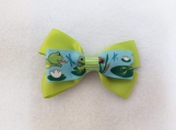 Green Frog Hair Bow