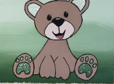 Artwork -Teddy Bear Truly Bearable (Green)
