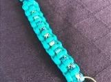 Key ring - turquoise camo