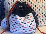 Kids Theme Pillowcase and Drawstring Bag - Happy Whales