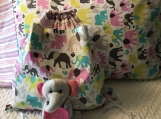 Kids Pillowcases and Drawstring Backpack - Roaming Elephants