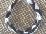 Leather and suede gray bracelet