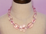 Light clear pink Children Necklace