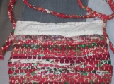 Medium Rag Rug Bag in Reds