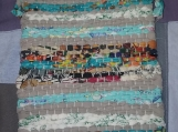 Medium Rag Rug Bag in Turquoise
