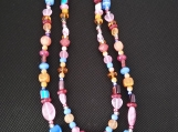 Multi-colored Two-strand necklace
