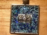 Necklace slide - Blue sparkle